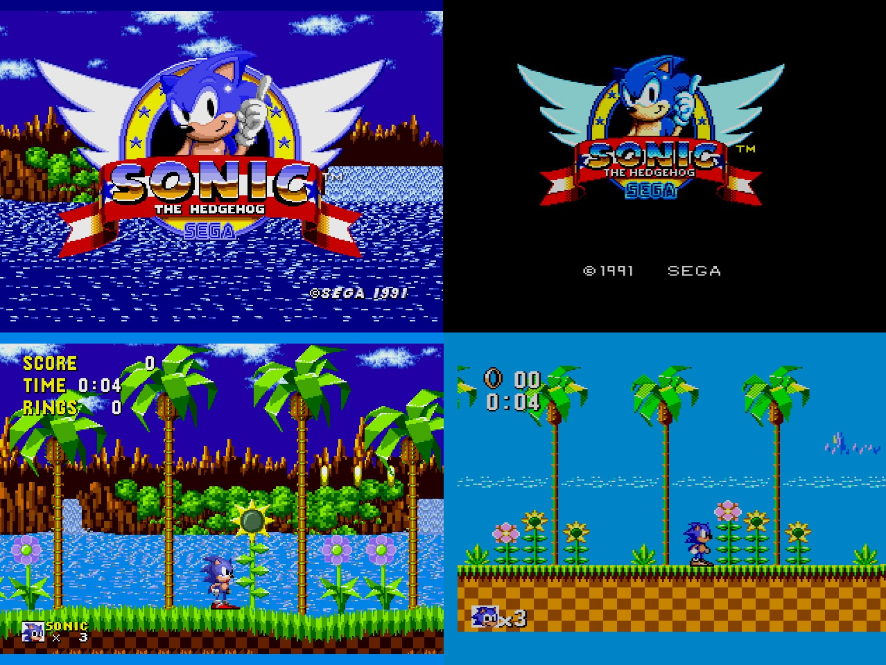 Sonic the Hedgehog 8-bit 16-bit