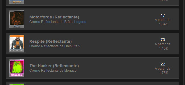 Las Steam Cards reflectantes son más caras